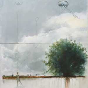 EarthSkyMind Painting by Jan Cilliers de Wet - Art for Nature - Fundraising Precious Tree Project NPO