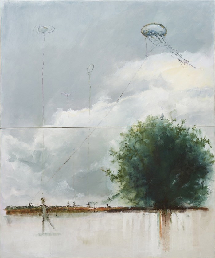 EarthSkyMind Painting by Jan Cilliers de Wet - Bid for Trees - Fundraising Precious Tree Project NPO