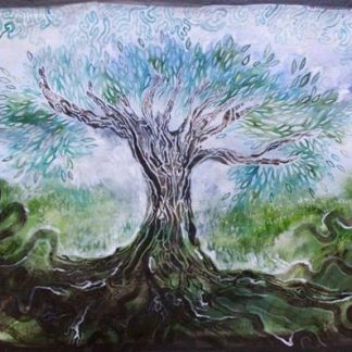 The energy flows in all directions, painting by Janet Botes
